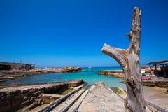 Es calo Escalo de Agusti sant plaża w Formentera Obraz Stock
