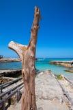 Es calo Escalo de Agusti sant plaża w Formentera Zdjęcia Royalty Free