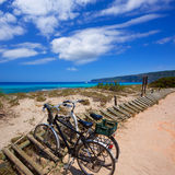 Es calo Escalo de san Agustin Beach in Formentera Royalty Free Stock Image