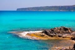 Es calo Escalo De San Agustin plaża w Formentera Zdjęcie Royalty Free