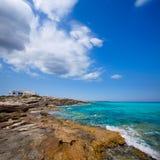 Es calo Escalo de sant Agusti Beach in Formentera Stock Images