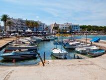ES Cana海滨广场, Ibiza 免版税库存照片