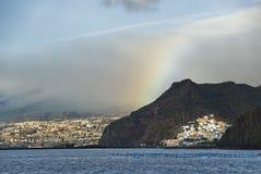 Es dämmert in Tenerife Stockfotos