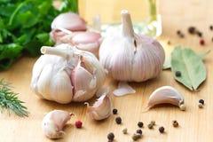  es dello spiÑ e dell'aglio Immagine Stock Libera da Diritti