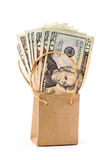 Es dinero en el bolso Imagen de archivo libre de regalías