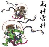 Es dios que aparece en el mito japonés stock de ilustración