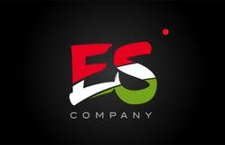 ES E S alphabet letter logo combination icon alphabet design Stock Photos