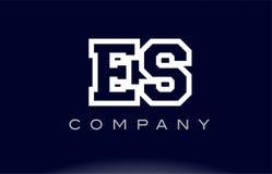 ES E S alphabet letter logo icon company Stock Images