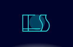 Es e s blue line circle alphabet letter logo icon template vecto Royalty Free Stock Images