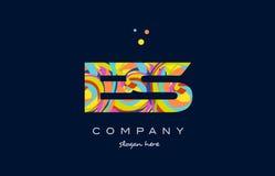 Es e s colorful alphabet letter logo icon template vector Stock Photography