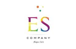 Es e s  creative rainbow colors alphabet letter logo icon Royalty Free Stock Photo