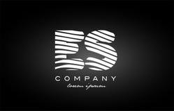 ES E S letter alphabet logo black white icon design Stock Photography