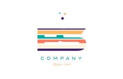 Es e s line stripes pastel color alphabet letter logo icon templ Stock Photography