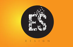 ES E S Logo Made of Small Letters with Black Circle and Yellow B Stock Images