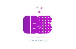 Es e s pink dots letter logo alphabet icon Stock Image