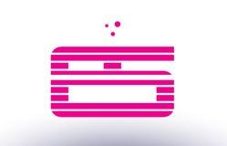 Es e s pink purple line stripe alphabet letter logo vector templ Royalty Free Stock Images
