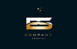 Es e s  white yellow gold golden luxury alphabet letter logo ico Stock Image