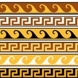 Es el ornamento griego fijado Ilustración del vector Imagen de archivo