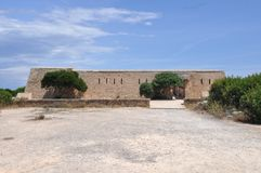 Es Forti fortification in Majorca. Es Forti (meaning The Fortification) in Majorca, Spain Royalty Free Stock Photos
