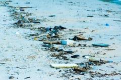Es gibt Abfall auf dem Strand, Phu Quoc, Vietnam Lizenzfreie Stockbilder