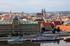 Es gibt eine Hauptstadt der Tschechischen Republik prag Panoram Lizenzfreie Stockbilder