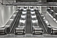 Sets der Arbeitsrolltreppe Stockbild