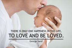 Es gibt nur ein Glück in diesem Leben, zu lieben und geliebt zu werden Lizenzfreies Stockbild