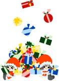 Es gibt so viele Weihnachtsgeschenke. Stockfotos