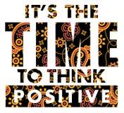Es hora de pensar el positivo Foto de archivo libre de regalías