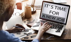 Es hora para nuevo Job Career Employment Concept Foto de archivo