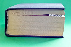 Es ist Buch mit Wortformat Lizenzfreie Stockfotos
