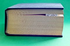 Es ist Buch mit Wortgeschichte Lizenzfreies Stockbild