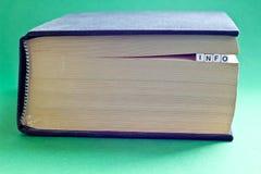 Es ist Buch mit Wortinformationen Lizenzfreie Stockbilder