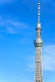 Es ist die 634 Meter Fernsehkontrollturm und angeordnet im Sumida Bezirk Stockbilder
