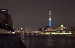 Es ist die 634 Meter Fernsehkontrollturm und angeordnet im Sumida Bezirk Lizenzfreie Stockbilder