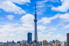Es ist die 634 Meter Fernsehkontrollturm und angeordnet im Sumida Bezirk Lizenzfreies Stockfoto