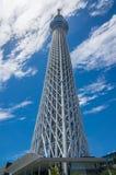 Es ist die 634 Meter Fernsehkontrollturm und angeordnet im Sumida Bezirk Lizenzfreies Stockbild