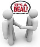 Es ist ein Abkommen-Leute-Kunden-Verkäufer-Händedruck vektor abbildung