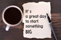 Es ist ein großer Tag, zum großes etwas zu beginnen Stockfotos