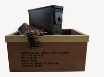 Es ist ein Kasten Munition Stockbilder
