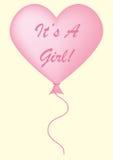 Es ist ein Mädchen-Ballon Stockfoto