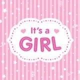 Es ist ein Mädchen Nette Illustration für neugeborenes Lizenzfreies Stockbild