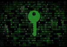 Es ist ein Symbol eines digitalen Schlüssels Lizenzfreies Stockbild