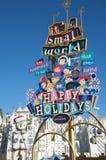 Es ist eine kleine Welt bei Disneyland Stockbild