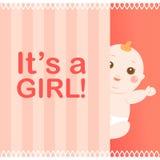 Es ist eine Mädchenschätzchenkarte Stockfotografie