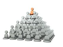 Es ist eine Pyramidenstruktur, Rang der Energie Es stellt die Struktur der Organisation dar stock abbildung