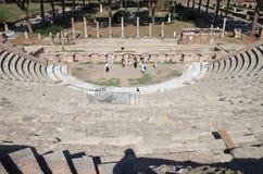 Ruinen von Amfitheatre, Ostia Antica, Italien Lizenzfreie Stockbilder