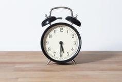 Es ist halbe letzte fünf O-` Uhr Stockfoto