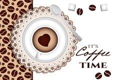 Es ist Kaffeezeit Stockfotografie