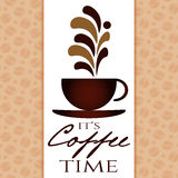 Es ist Kaffeezeit Lizenzfreie Stockfotos
